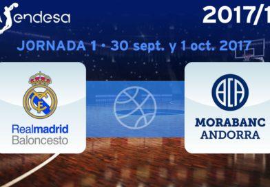 El Real Madrid empezará la ACB 2017/18 recibiendo en el Palacio al Morabanc Andorra