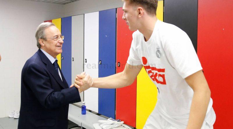 """Florentino Pérez: """"Trabajaremos con Doncic para intentar aguantarlo un poco más"""""""