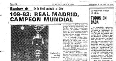 24 Segundos Vintage #08 Sírio vs Real Madrid (Final Intercontinental 1981)
