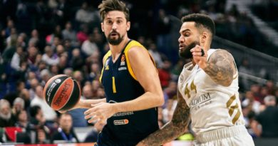 Jeff Taylor defiende a Shved Khimki Real Madrid