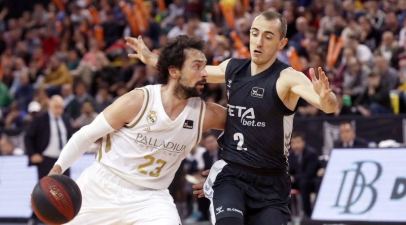 sergio llull frente a jonathan rouselle real madrid bilbao basket copa acb 2020